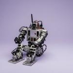 Mini-Hubo robot. Photo by Ron Aira/Creative Services/George Mason University
